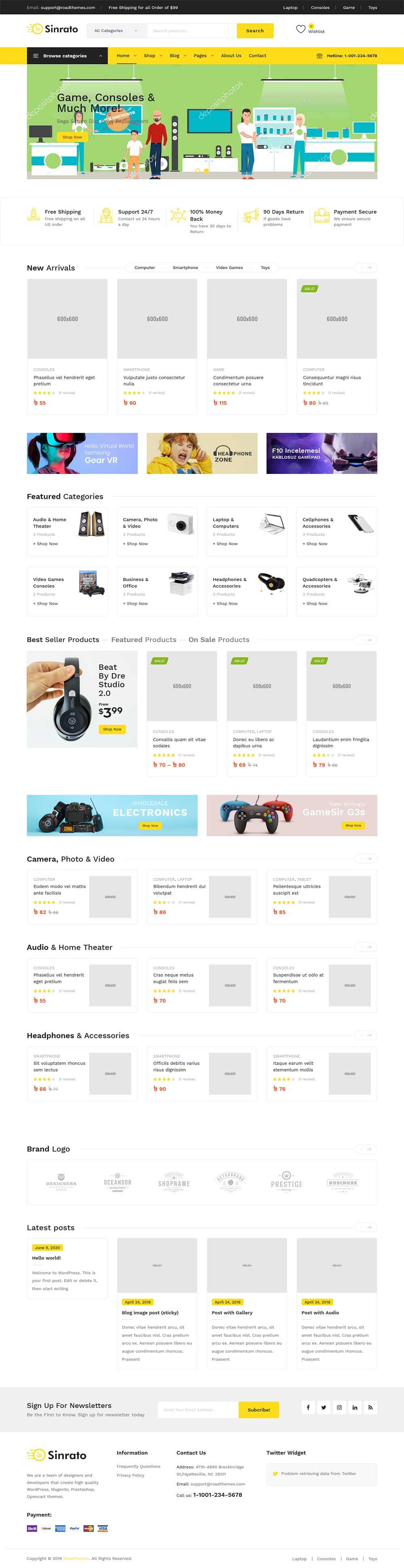 Smart E commerce wordpress theme